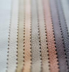leather décor material  used in thermal lamination for automotive interiors using  Chemfab industrial process belt