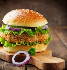 Burgers cooked with CHEMFAB ptfe coated non stick food grilling liners