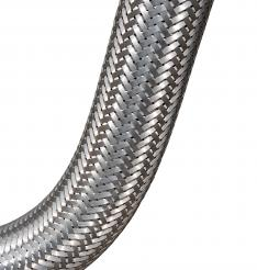 Convoluted hoses lined with Chemfab ptfe fabric for barrier protection in corrosive fluid transfer