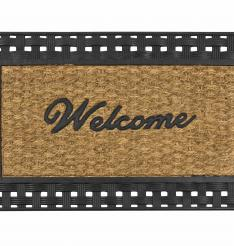 Welcome mat manufactured with CHEMFAB ptfe coated nonstick easy release conveyor belts