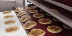Tortilla cooked with  CHEMFAB ptfe coated nonstick easy release conveyor belts